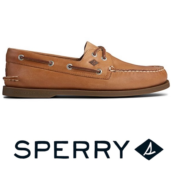 SPERRY Men's Authentic Leather Boat Shoes Size 10